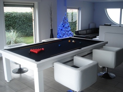 Convertible pool tables dining room pool tables conversions - Billard transformable table ...