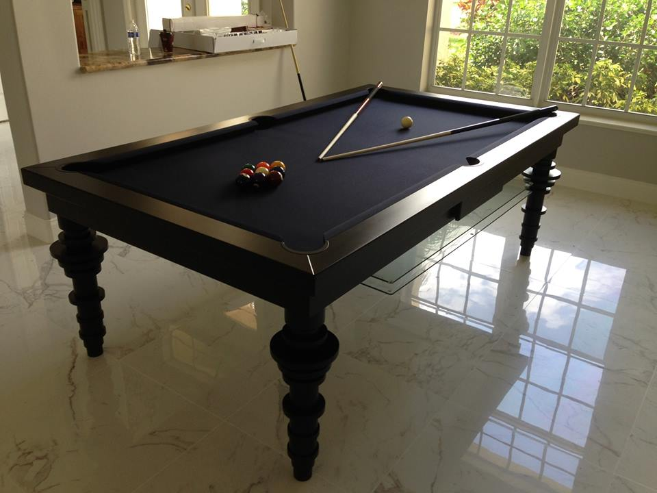 Contemporary Convertible Pool Tables Dining Room Pool