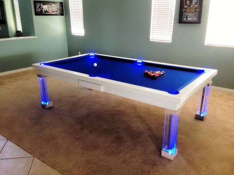 Neon Lighted Pool Tables   Dining Room Pool Tables by Generation Chic Pool. Neon Lighted Pool Tables   Dining Room Pool Tables by Generation