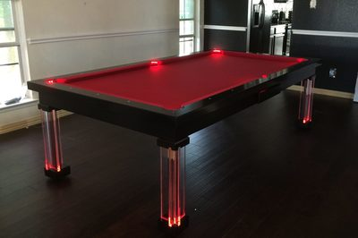 Neon Dining Room Pool Tables