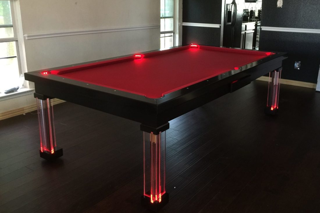 Neon Red Dining Room Pool Tables