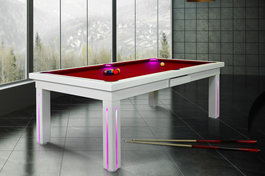 Convertible Pool Tables Dining Room Pool Tables By Generation Chic - How much room for a pool table