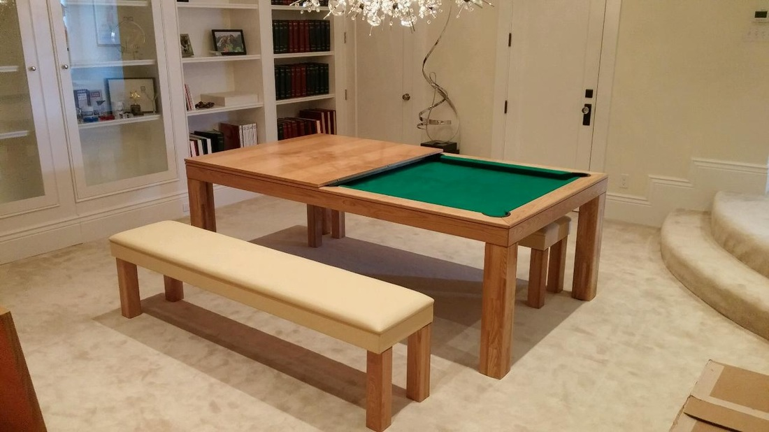 Best convertible pool tables dining room pool tables by generation chic pool - Billard transformable table ...
