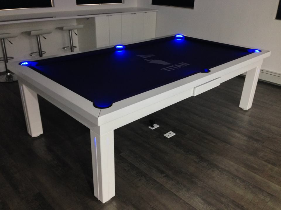 Convertible pool tables dining room pool tables by generation chic pool - Table billard convertible table a manger ...