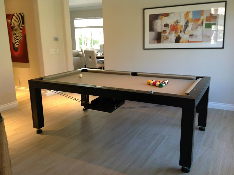 convertible hollywood pool tables - dining room pool tables