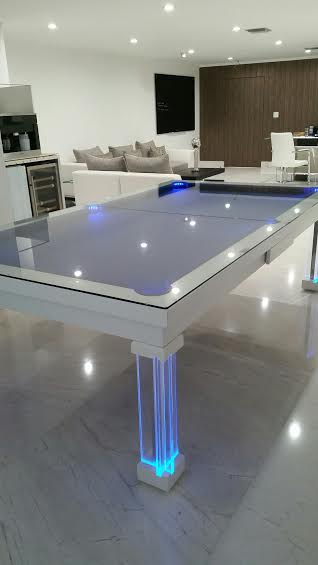 Conversion Pool Tables Dining Room Pool Tables By Generation Chic Pool - Clear pool table