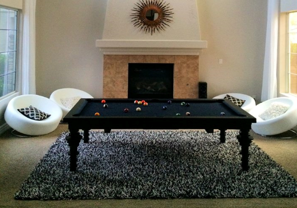 Sleek convertible pool tables dining room pool tables by for Sleek dining room tables