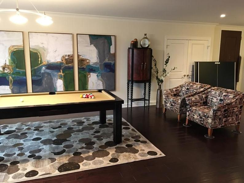 Dining Pool Table with Matching Top