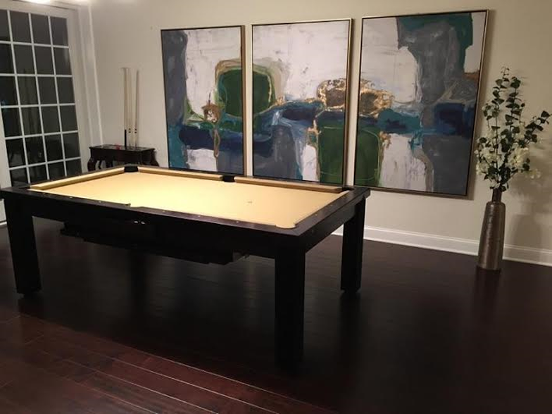 Elegant Dining Room Pool Table