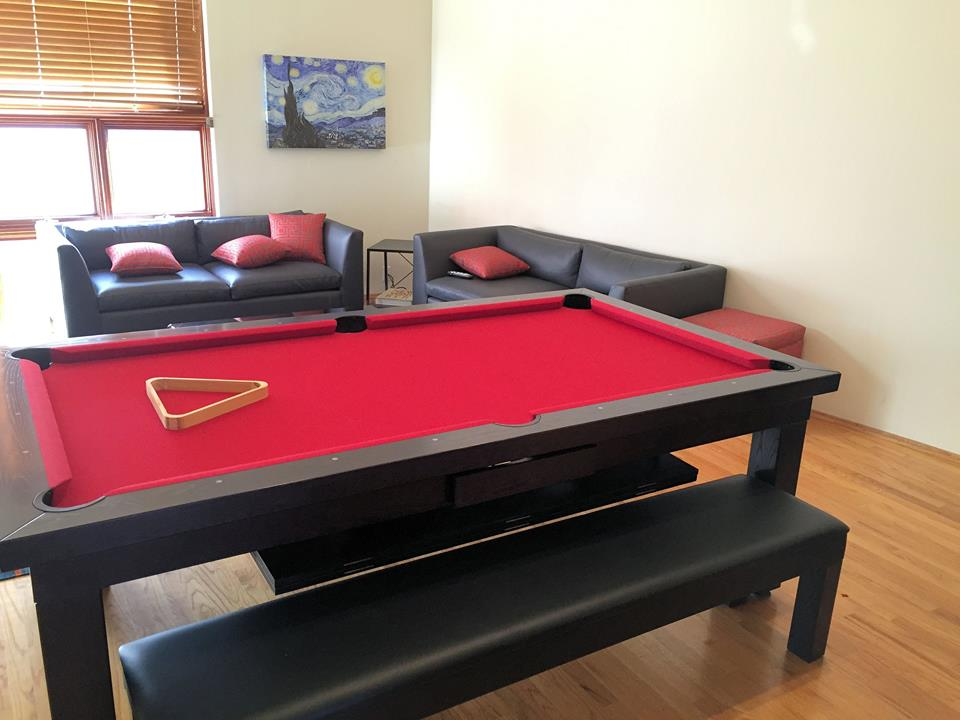 Black Dining Pool Table