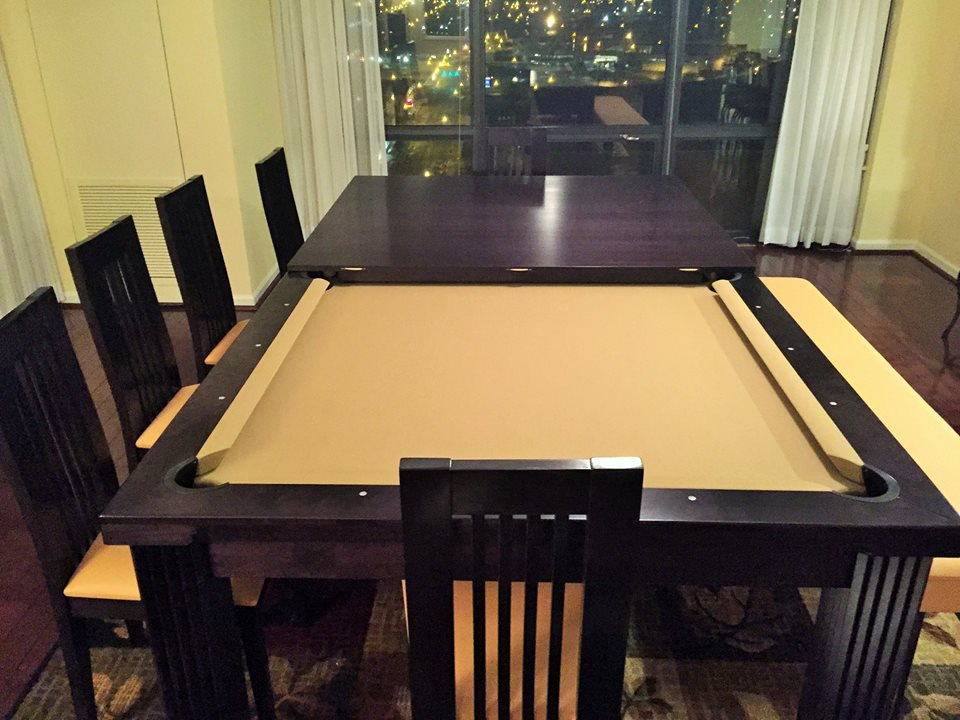 Dining Room Pool Tables Dining Room Pool Tables By Generation Chic - Black top pool table