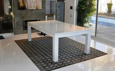 White Gloss Dining Room Pool Table