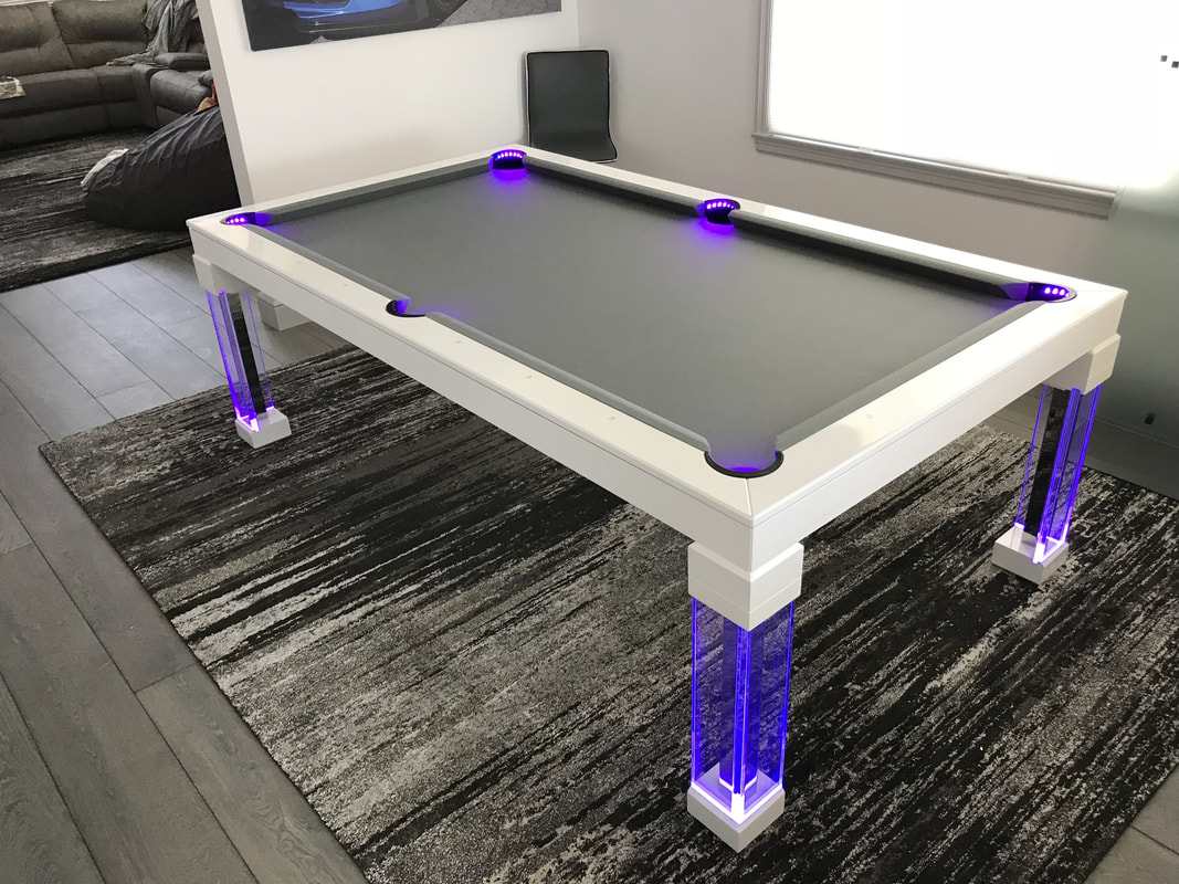 Neon Pool Tables Luxury Dining