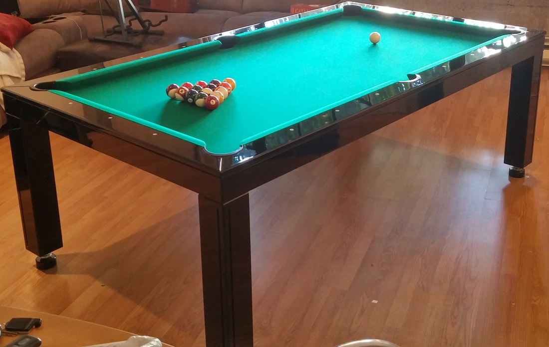 Hi Gloss Black Dining Room Pool Table