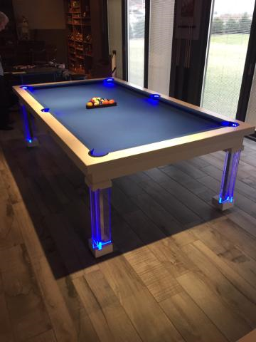 Stunning Dining Room Pool Table