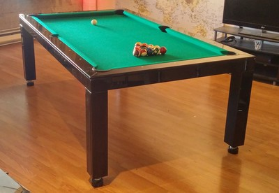 Black Glossy Dining Room Pool Table