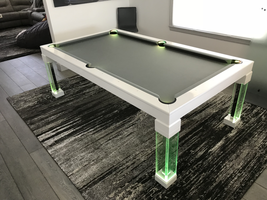 Green Dining Room Pool Table