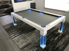 Blue Dining Room Pool Table