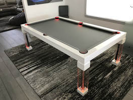 Red Dining Room Pool Table