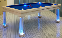 Neon Blue Dining Room Pool Table