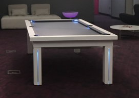 White Pool Table Dining Tables