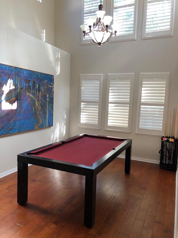 Burgundy Dining Room Pool Table