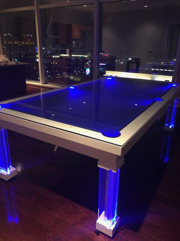 Neon Pool Table Dining Tables
