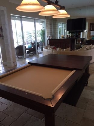 Brown Convertible Pool Table