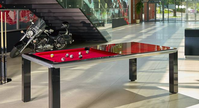 Custom dining pool table in Texas.