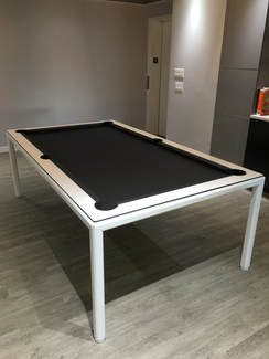 Minimalist Dining Room Pool Table