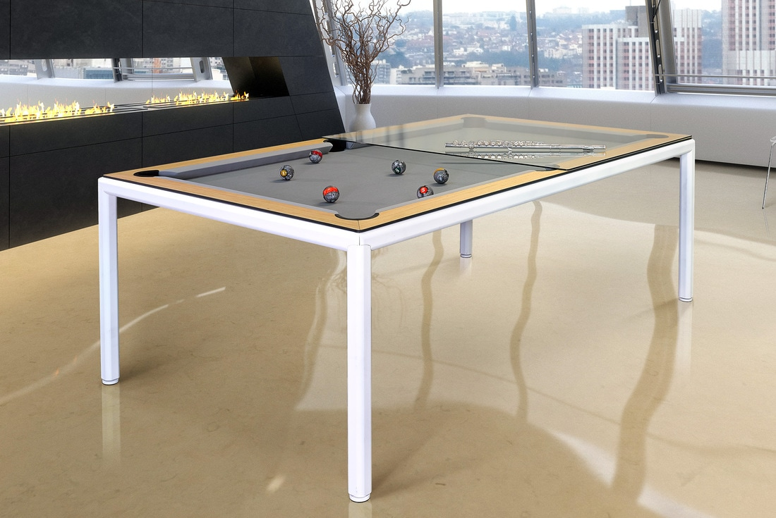 Convertible dining pool tables dining room pool tables by generation chic pool - Billard transformable table ...