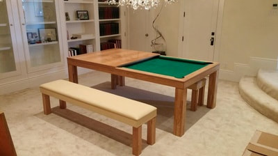 Top for dining pool tables